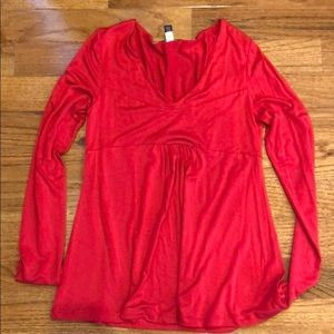 Banana Republic Red Long Sleeve Shirt